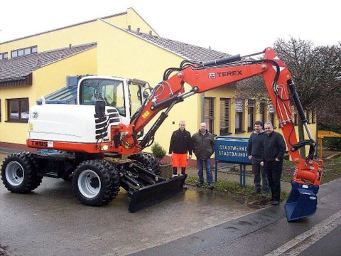 TEREX – Terex Mobilbagger TW 85 – ein großes Weihnachtsgeschenk für die Stadt Scheinfeld